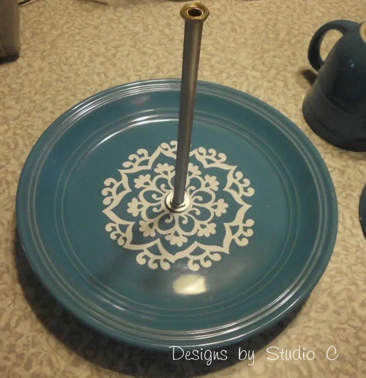 How to Make a Jewelry & Makeup Holder with Dinnerware SANY1982