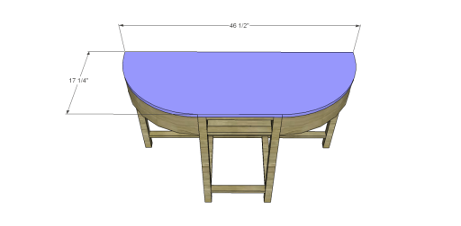 Free Plans to Build a Demilune Console Table_Top