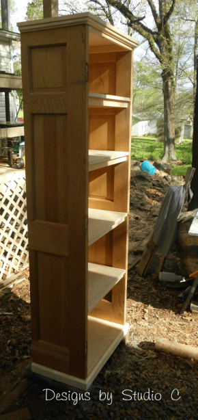 how to build a bookcase using an old door 2106