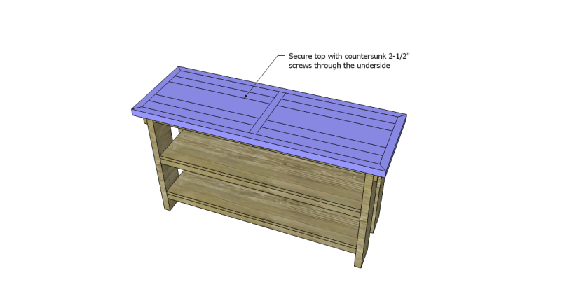 free plans to build a Hammary inspired Luberon console table_Top 2