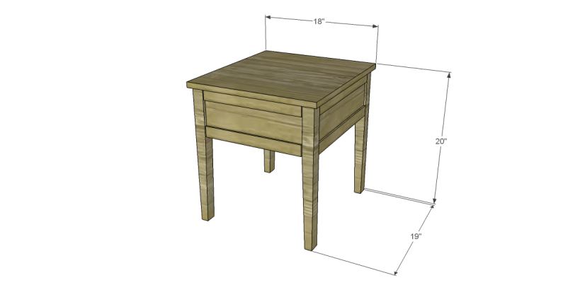 free plans to build a joss main inspired banyan end table