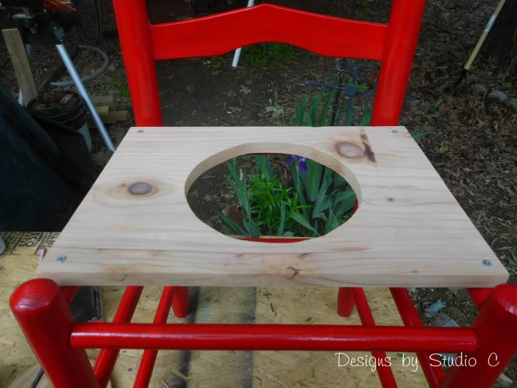 How to Make a Planter using an Old Wooden Chair_Board Secured