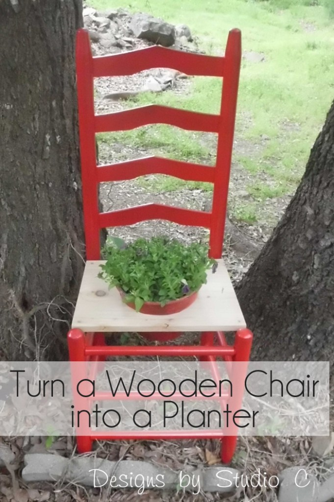 How to Make a Planter using an Old Wooden Chair