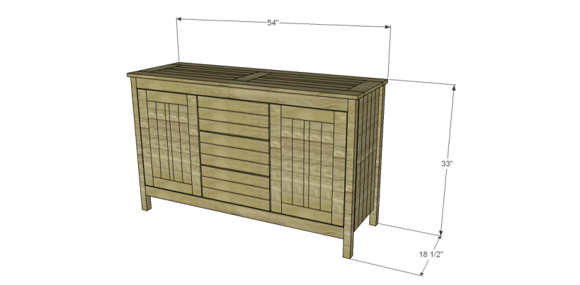 free plans to build a world market inspired garner sideboard