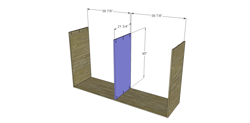 free plans to build daves two piece armoire_Upper Divider