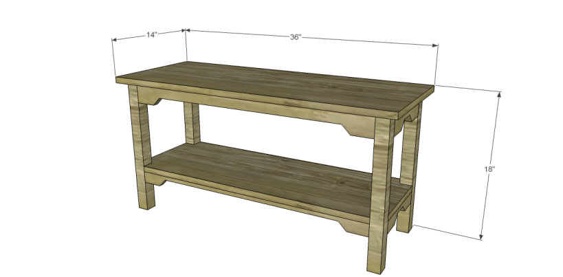 free plans to build an ll bean inspired large bench