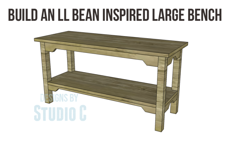 free plans to build an ll bean inspired large bench_Copy