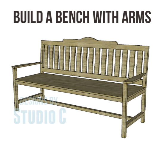 free plans to build a bench with arms_Copy