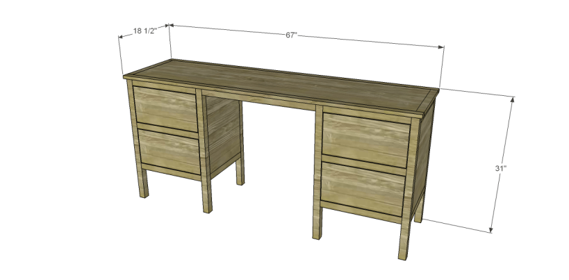 free plans to build a sereno desk