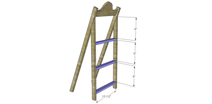 free plans to build a world market inspired chloe storage shelf_Back Stretchers