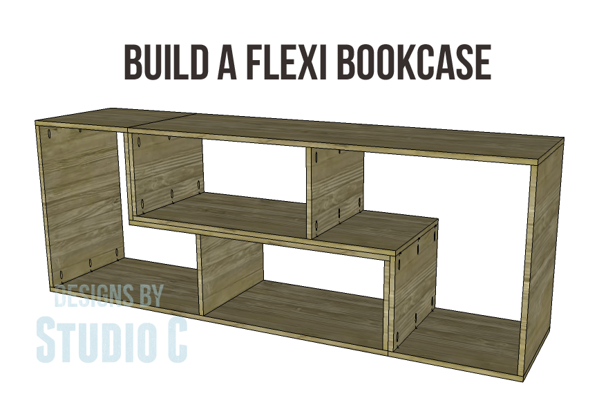 Free diy woodworking plans to build a flexi bookcase for Diy modular bookcase