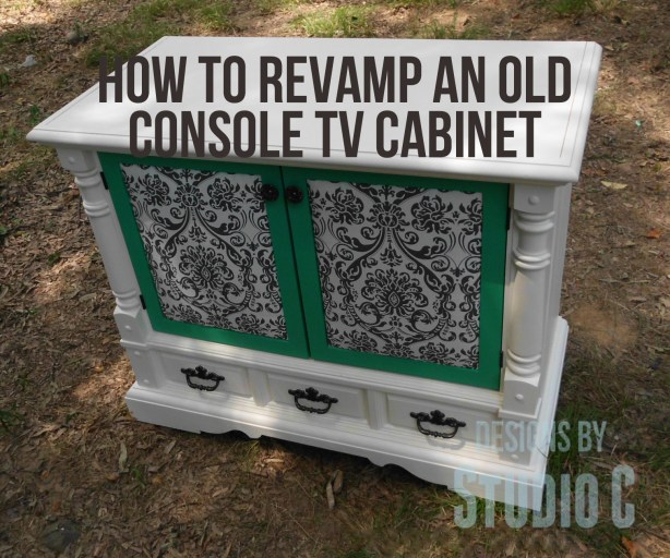 how to revamp an old console tv cabinet SANY2372 copy