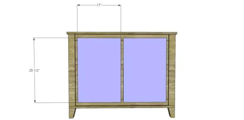 free DIY woodworking plans to build a two door sideboard_Doors