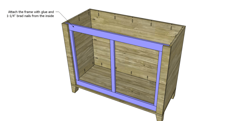 free DIY woodworking plans to build a two door sideboard_Frame 2