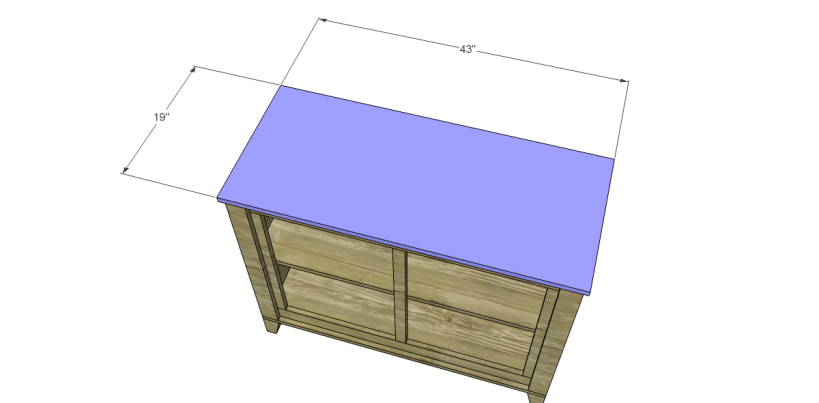 free DIY woodworking plans to build a two door sideboard_Top