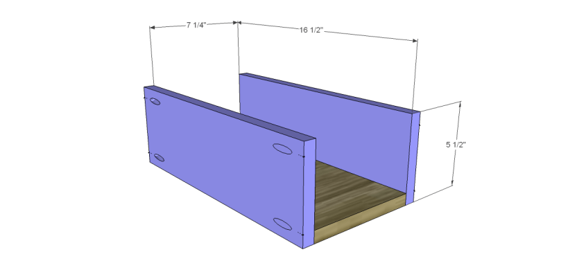 free DIY woodworking plans to build a custom bath vanity_Drawer BS
