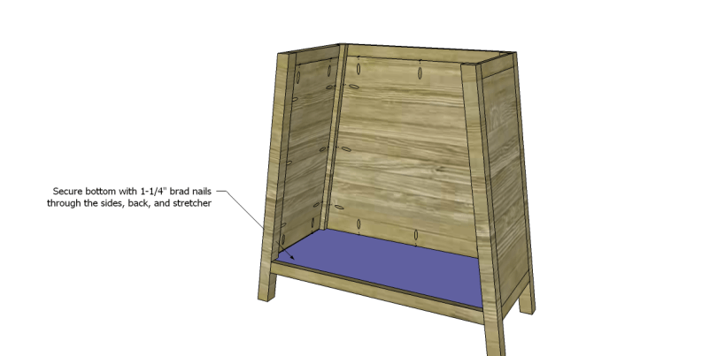 free DIY woodworking plans to build an asian style cabinet _Bottom 2