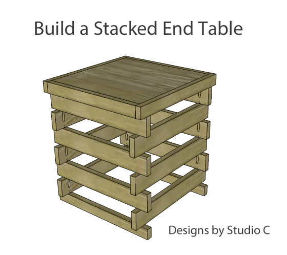 build stacked end table_copy