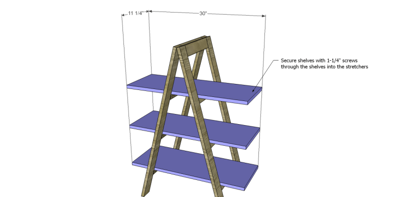 a-frame bookshelf plans_Shelves