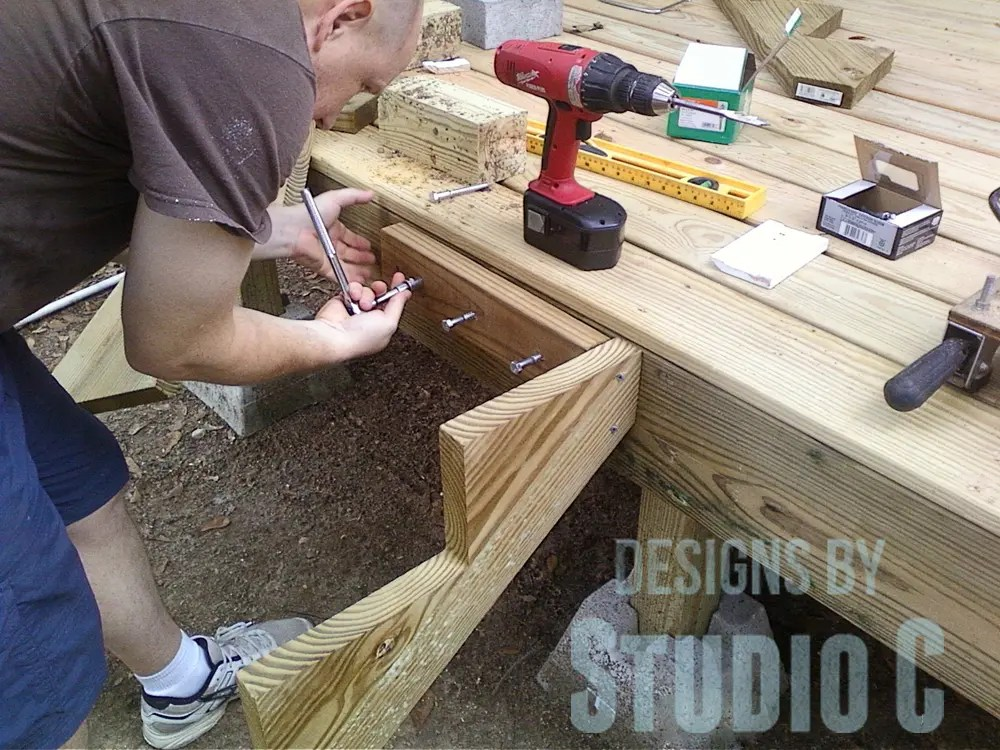 Build deck stairs for How to build a side by side