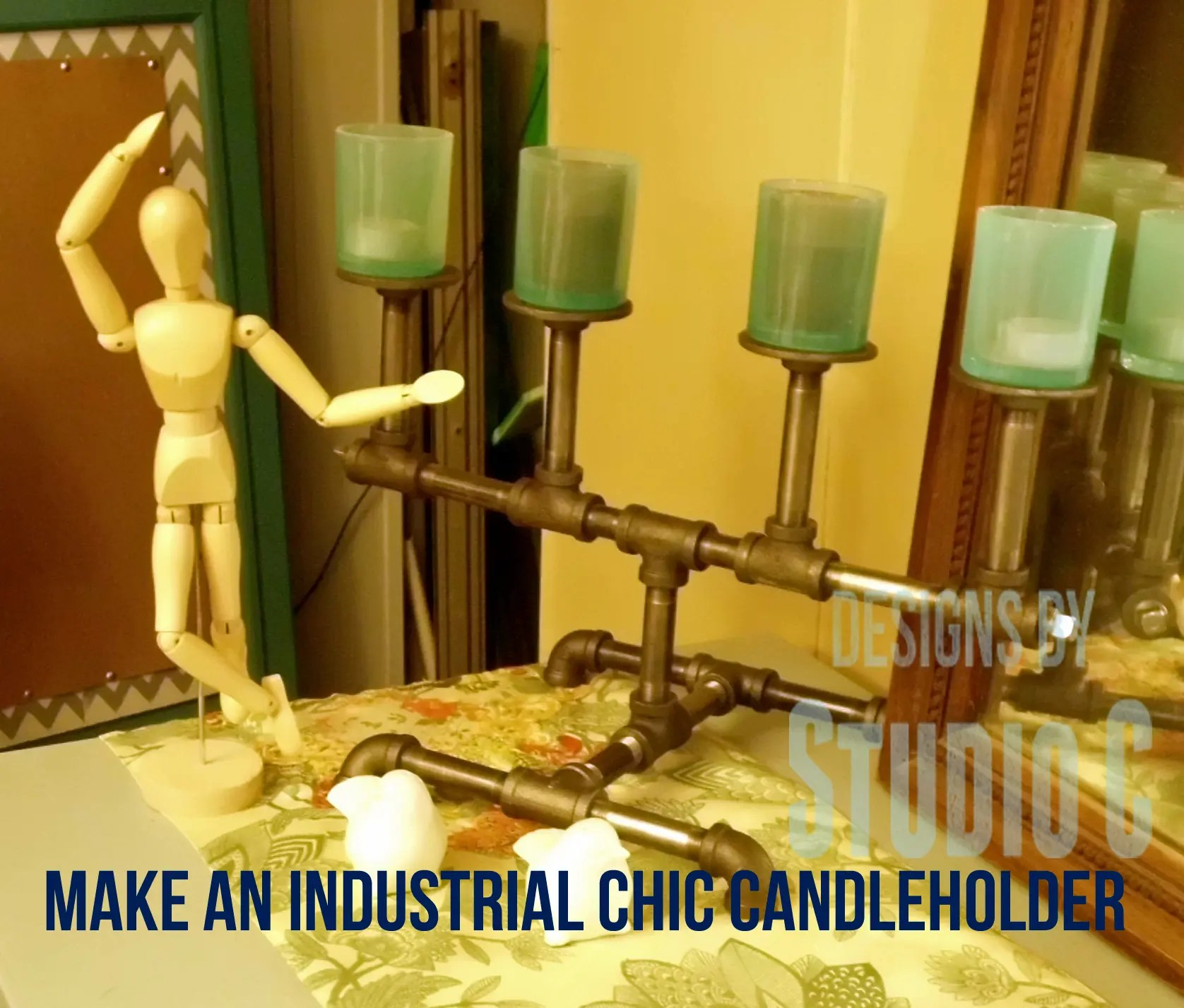 Industrial Chic Curtains Make An Industrial Chic Candleholder
