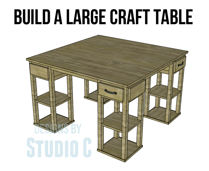 Craft table with storage for How to build a craft table with storage
