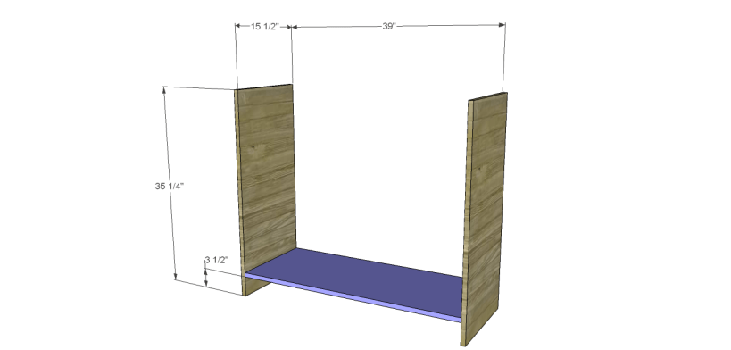 wide chest drawers plans_Sides & Bottom