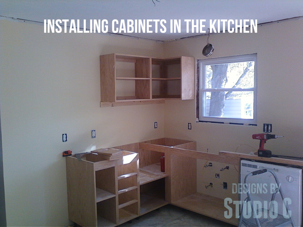 Installing Cabinets Kitchen Installing Cabinets In The Kitchen