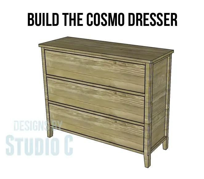 Diy Three-drawer Dresser Plans