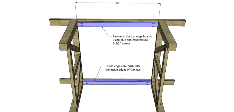 castleton dining table plans_Top Frame