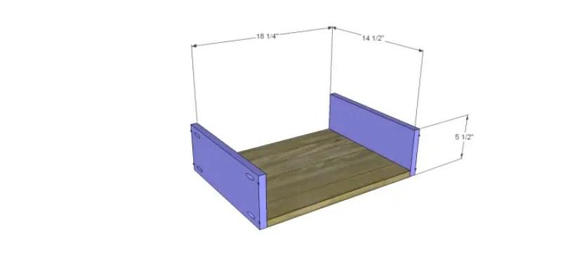 free furniture plans build sundown retreat sideboard_Center Drawer BS