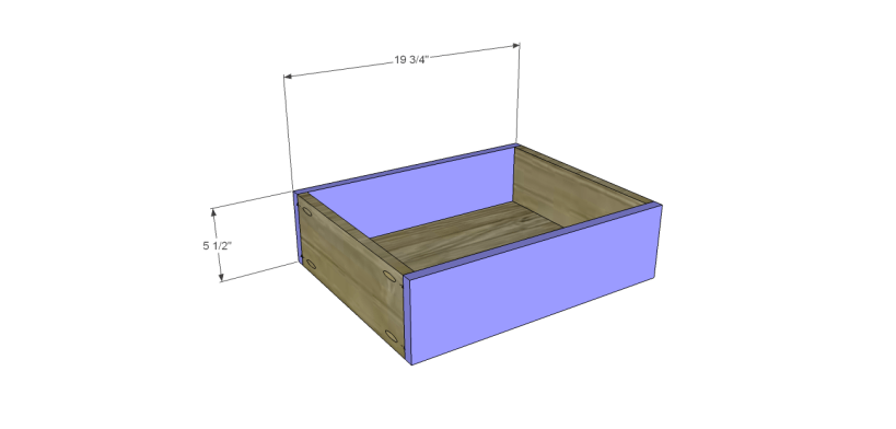 free furniture plans build sundown retreat sideboard_Center Drawer FB