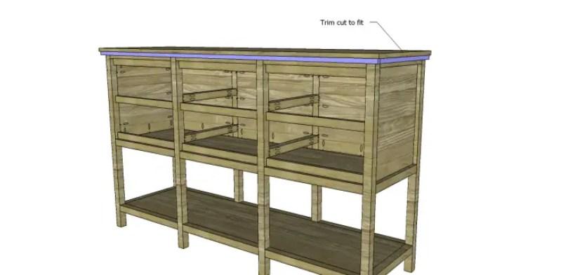 free furniture plans build sundown retreat sideboard_Trim
