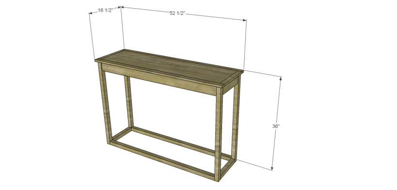 honfleur console table plans