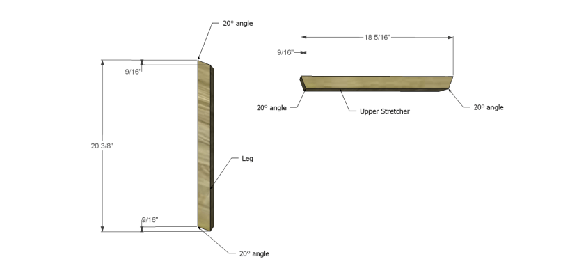 astor end table plans_Legs & Upper Stretcher 1