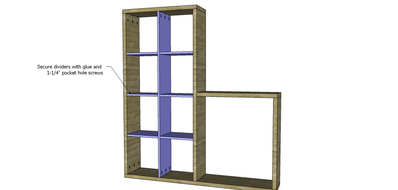 cascade bookcase plans_Large Dividers 3