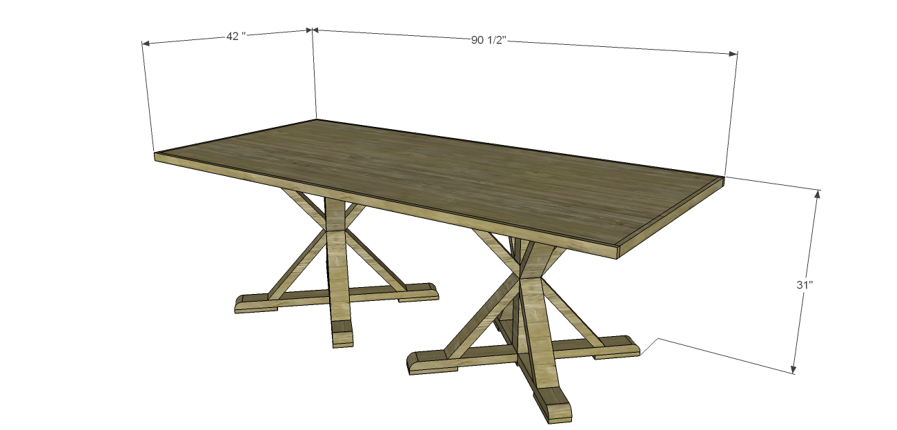 Shelby dining table plans for Dining table plan view