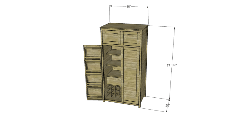 plans build alans larder cabinet