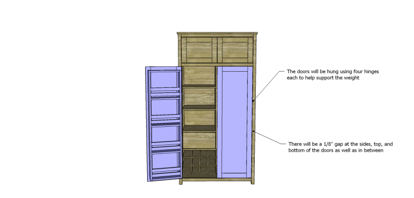 plans build alans larder cabinet_DoorsInstall