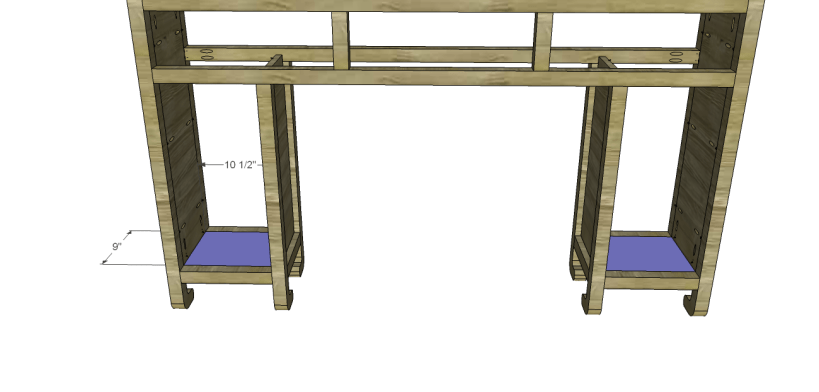 shanghai console table plans-Cubby Bottom