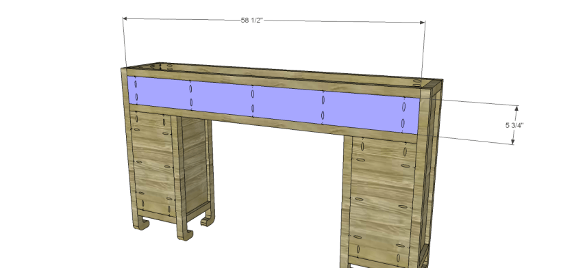 shanghai console table plans-Drawer Back