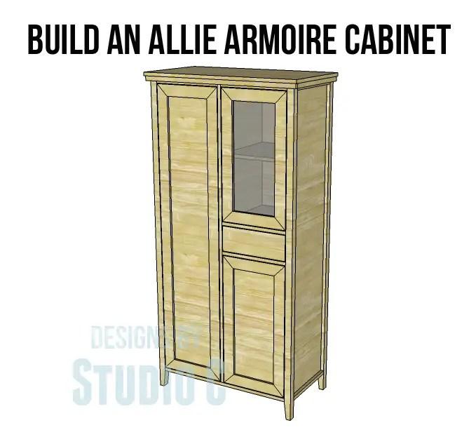 allie armoire cabinet plans. Black Bedroom Furniture Sets. Home Design Ideas