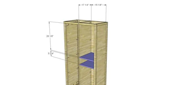 Allie Armoire Cabinet Plans-Drawer Shelves