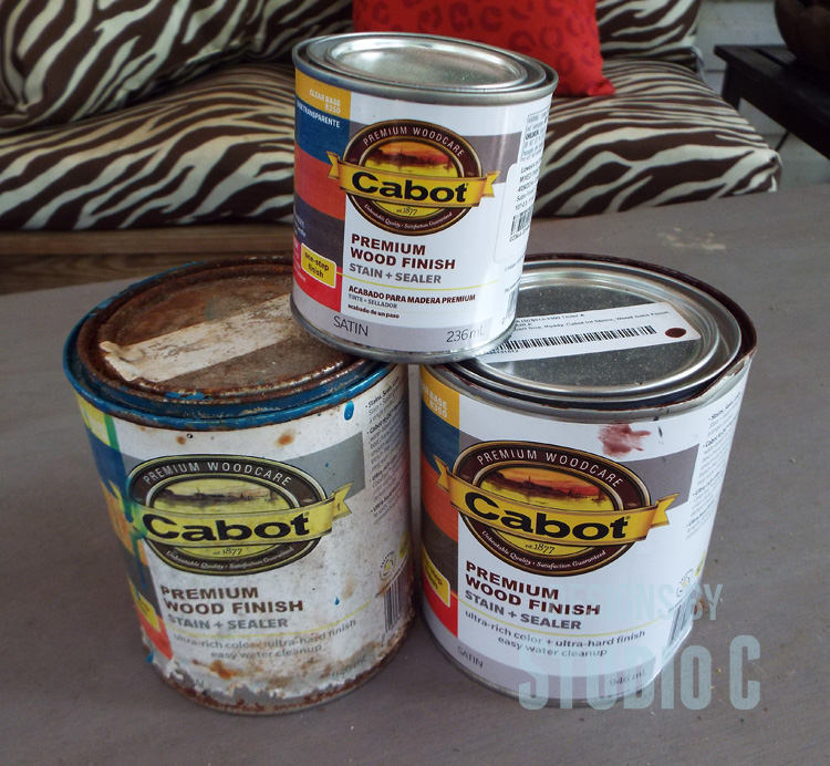 Staining-Wood-Colored-Stain-Cans
