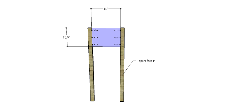 Miriam Console Table Plans-Sides