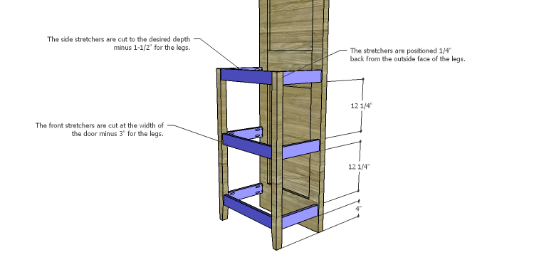 Plans to Build a Table using an Old Door-Stretchers