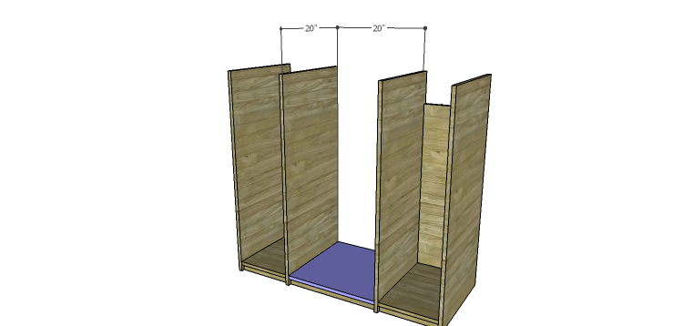 DIY Mini Fridge Cabinet Plans-Center Bottom
