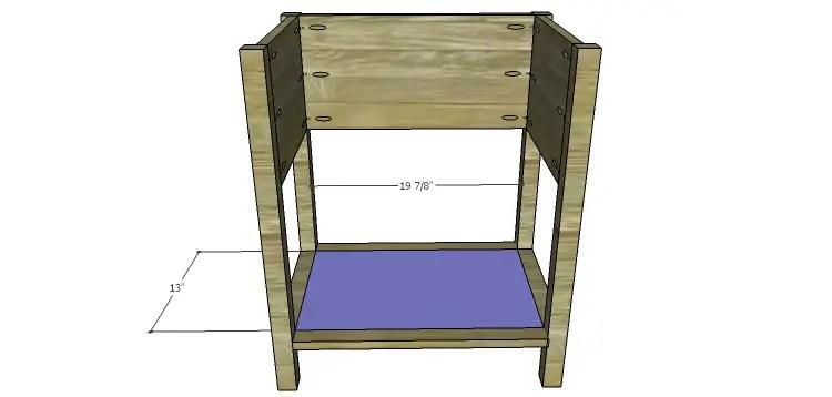 Presley 5-Drawer Table Plans-Bottom Shelf