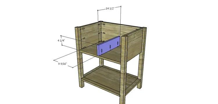 Presley 5-Drawer Table Plans-Lower Divider