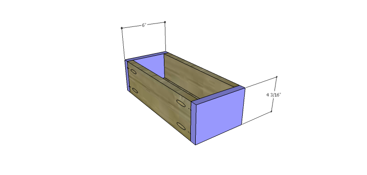 Presley 5-Drawer Table Plans-Sm Drawer FB